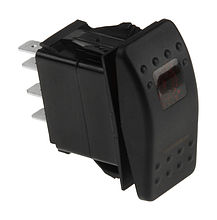 Contura Switch ON-OFF-ON 12V/20A, 7P, LED