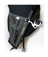 Tackle belt bag, with rod holder, small