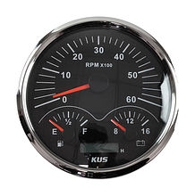 Multifunctional gauge Black/Chrom
