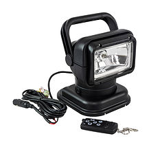 Remote Control Spotlight 12V/55W, Black