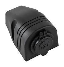 Cigarette lighter connector for mounting on dashboard, black