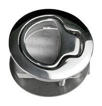 Flush handle for hatch, concealed