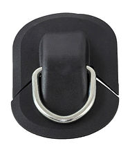 Ring to tow with a D-shaped ring, black