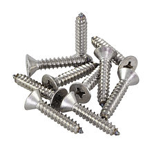 Screws with countersunk head and cross recess A4 DIN7982, 4,8x25, packaging 1/10