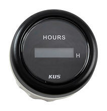 Digital Hour Meter Gauge, Black