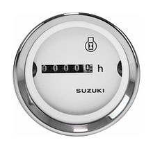 Hourmeter Gauge for Suzuki, White