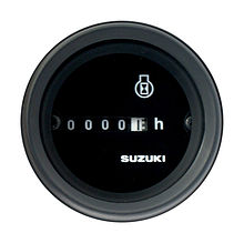 Hourmeter Gauge for Suzuki, Black