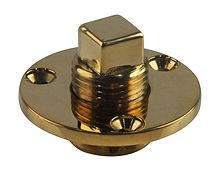 Drain plug 18 mm, brass