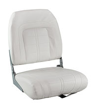 SPECIAL HIGH BACK Folding Seat, Soft, White Vinyl