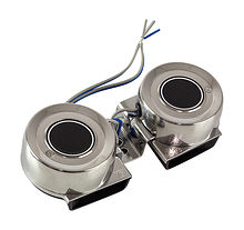 Stainless Steel Compact Electric Dual Horn