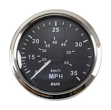 Speedometer 35 MPH,  Black/Chrome