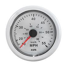 Speedometer 55 MPH, White/White