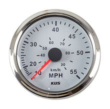 Speedometer Manometric 55 MPH, White/Chrome