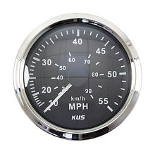 Speedometer 55 MPH,  Black/Chrome