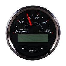 Speedometer for Suzuki, Black/Chrome