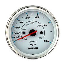 Speedometer for Suzuki 4 '  White/Chrome