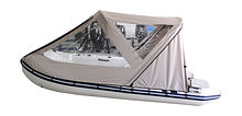 Cockpit awning for Inflatable Boat 320, Grey