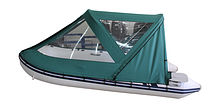 Cockpit awning for Inflatable Boat 320, Green