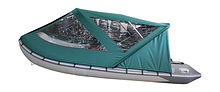Cockpit Awning for Inflatable Boat 390, Green