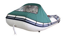 Bow awning for Inflatable Boat 290, Green