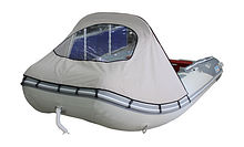 Bow Awning for Inflatable Boat 390, Grey