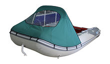 Bow Awning for Inflatable Boat 390, Green