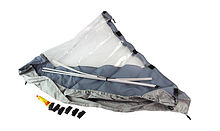 Bow Awning for Inflatable Boat 350, Grey