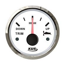 Trim Gauge 0-190 Ohm, White/Chrome