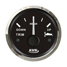 Trim Gauge 0-190 Ohm, Black/Chrome