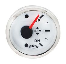 Trim Gauge 160-10 Ohm, White/Chrome
