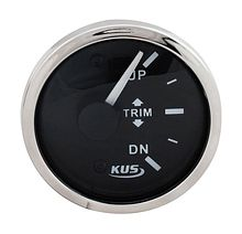 Trim Gauge Suzuki 2-88 Ohm, Black/Chrome