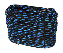 Polyester anchor line  Hanseat d10mm, L30m, black/blue