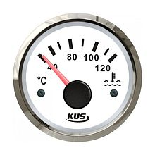 Temperature gauge, White/Chrome