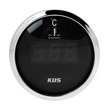 Temperature Gauge, Black/Chrome