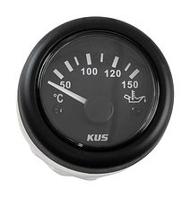 Oil Temperature Gauge, Black/Black