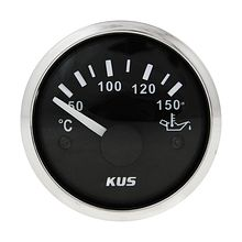 Oil Temperature Gauge, Black/Chrome