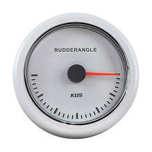 Rudder Angle Gauge, White/White