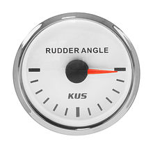 Rudder Angle Gauge, White/Chrome