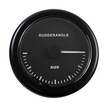 Rudder Angle Gauge, Black/Black