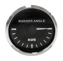 Rudder Angle Gauge, Black/Chrome