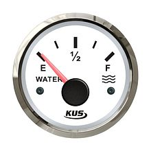 Water Level Gauge 0-190 Ohm, White/Chrome