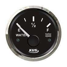 Water  Level Gauge 0-190 Ohm, Black/Chrome