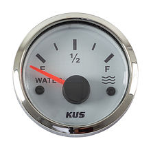 Water Level Gauge 240-33 Ohms, White/Chrome