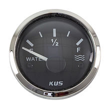 Water Level Gauge 240-33 Ohms, Black/Chrome