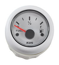 Fuel gauge 0-190 Ohm, White/White