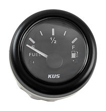 Fuel gauge 0-190, Black/Black