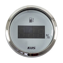 Fuel gauge 4-20 mA, Digital, White/Chrome