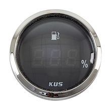 Fuel gauge digital 4-20 Ma, Black/Chrome