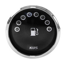 Fuel gauge, Led, Black/Chrome