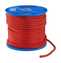 Double braid rope d10mm, L80m, red, KOT